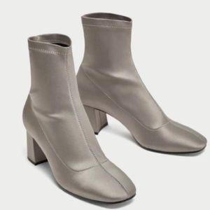 Zara satin sock boots